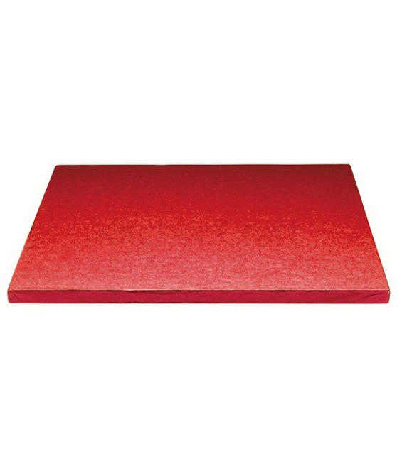 Stabile Quadratische Tortenunterlage Rot, 35cm