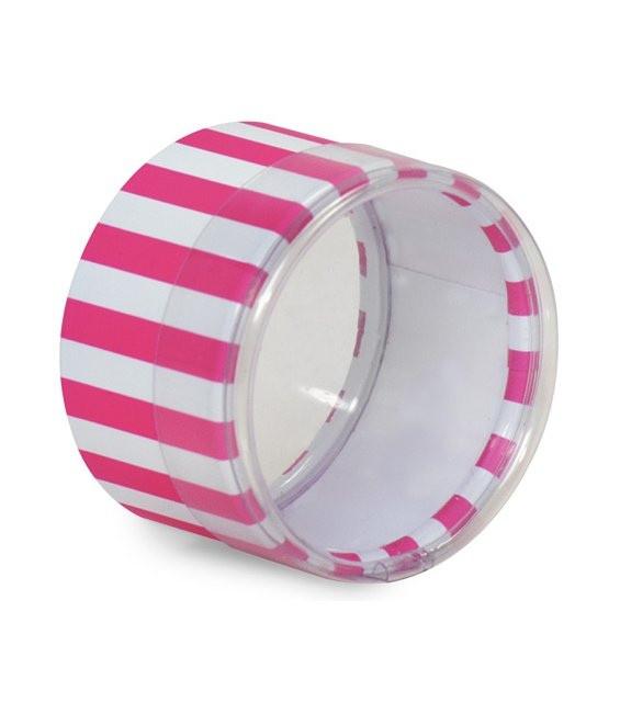 Mini Dose Pink/Weiß getreift