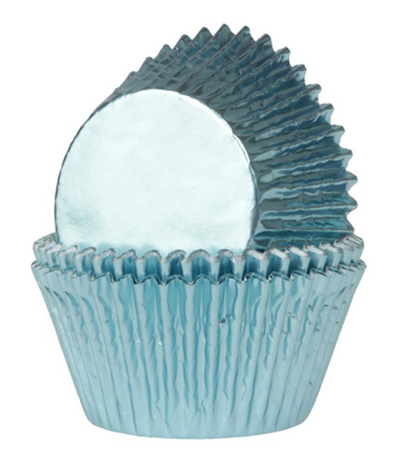 Muffinförmchen Metall Baby Blau 24 Stück