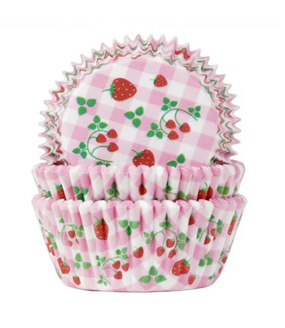 Muffinförmchen Erdbeerchen, 50 Stück