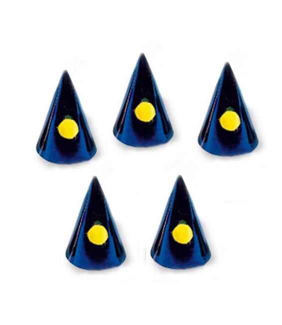 Karnevalshütchen Blau, 5 Stück
