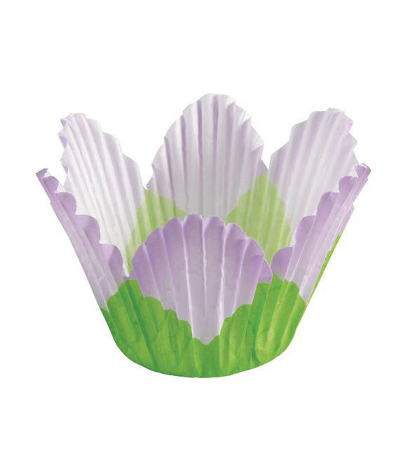 Muffinfömchen Tulip Petal Flieder, 24 Stück