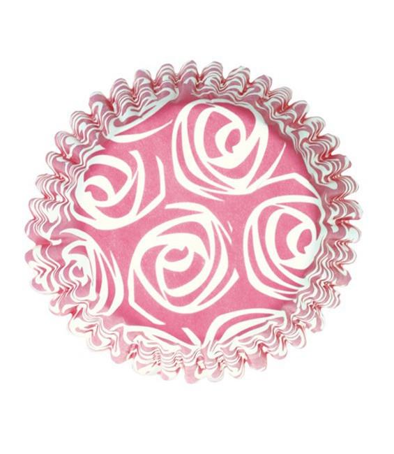 Muffinförmchen Pink Rose, 54 Stück