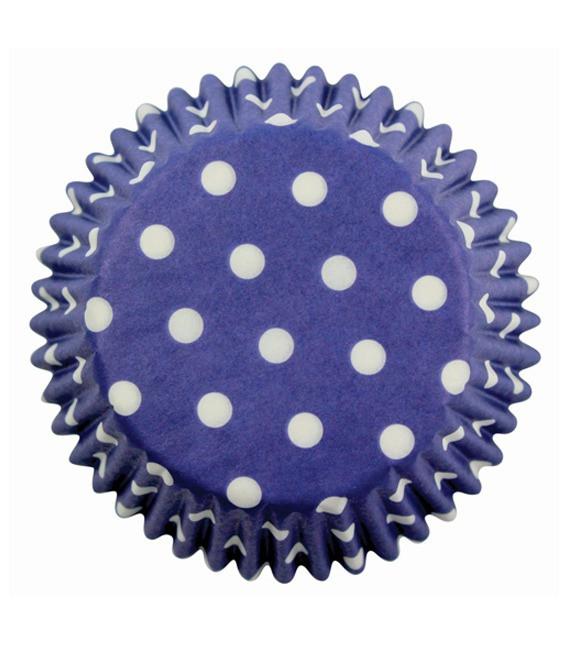 Muffinförmchen Blau gepunktet, 60 Stück