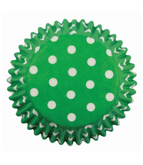 Muffinförmchen Grün gepunktet, 60 Stück