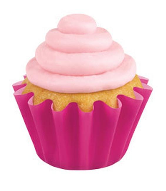 Muffinförmchen gewellt Pink, 24 Stück