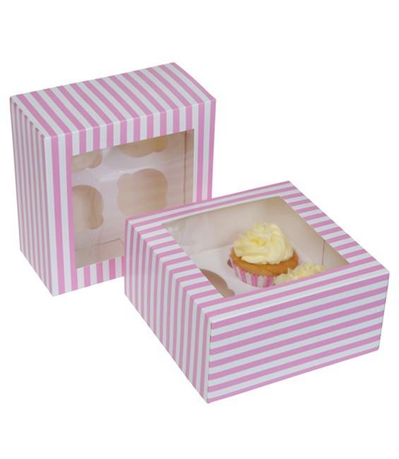 Cupcakes 4-er Pink Zirkus, 2 Stück