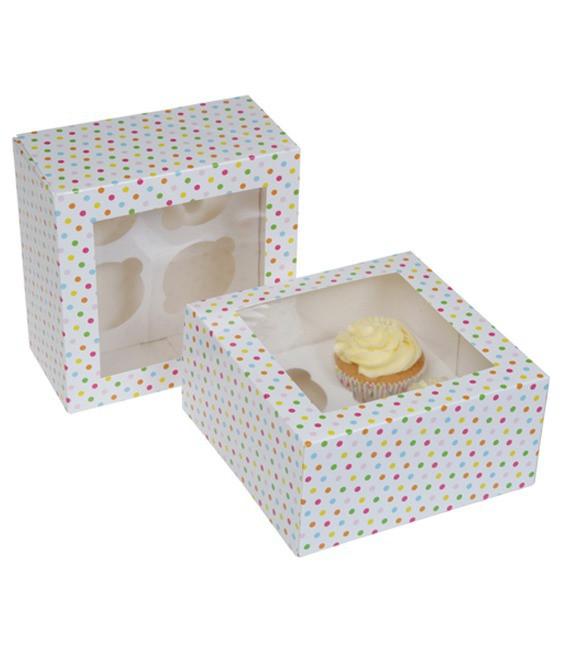 Cupcakes 4-er Konfetti, 2 Stück