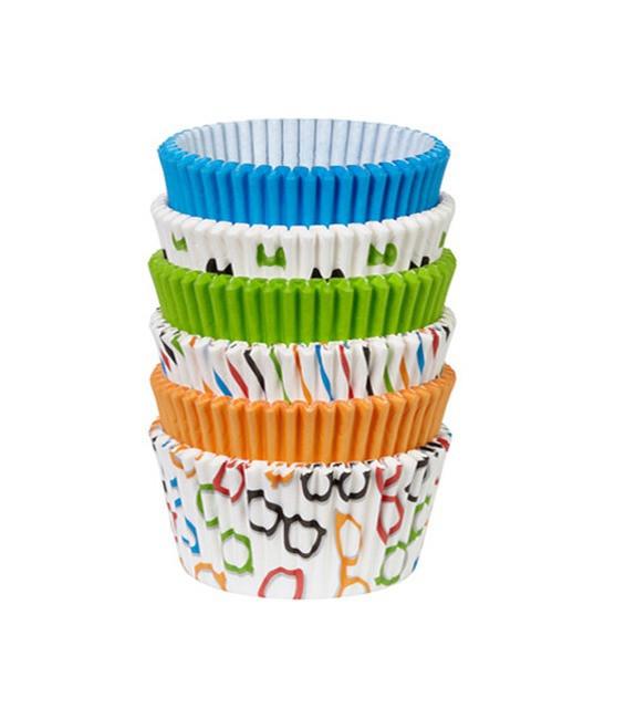 Muffinförmchen Set Multi Glasses & Bows, 150 Stück