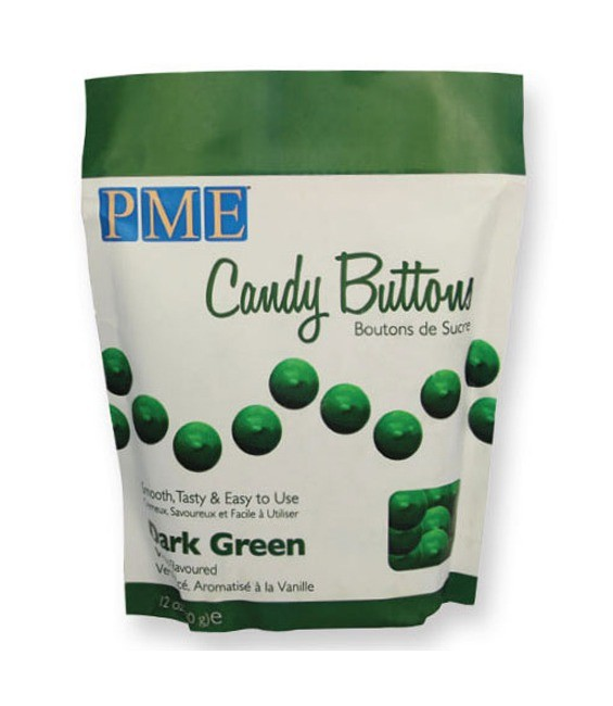 Candy Buttons Dark Green, 340g