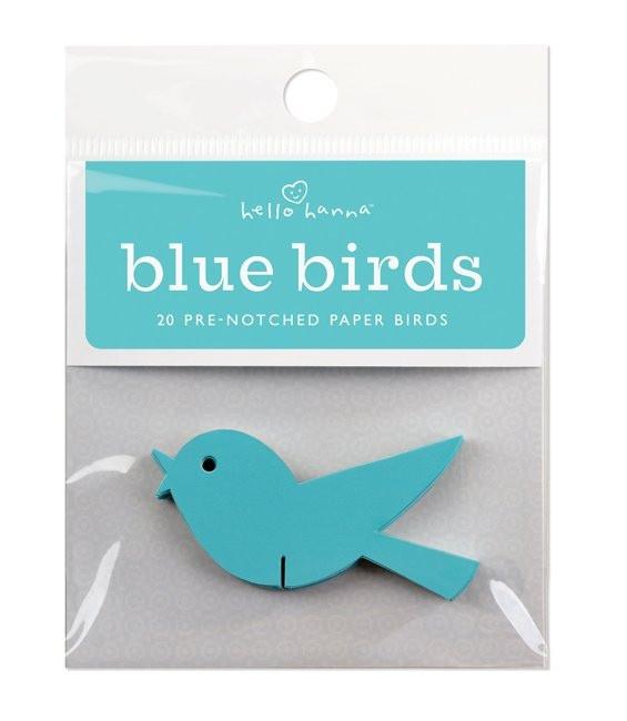 Türkisblau Wunschvögelchen, 20 Stück