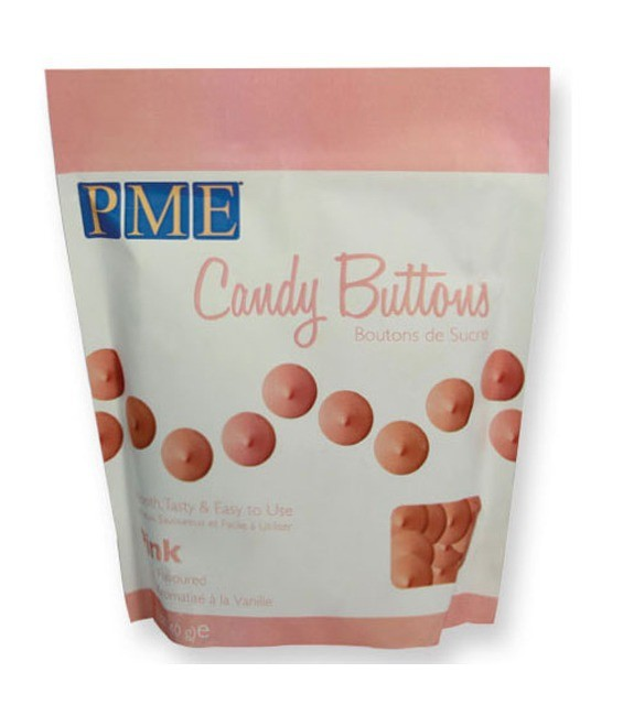 Candy Buttons Pink, 340g - MHD 25.01.2017