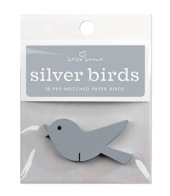 Silber Wunschvögelchen, 20 Stück