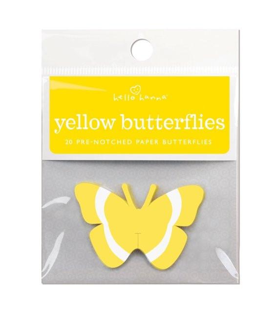 Gelbe Schmetterlinge, 20 Stück