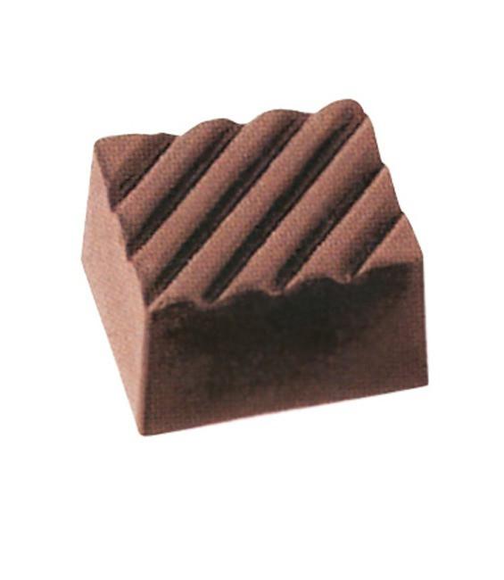Pralinen- Schokoform Viereck aus Polycarbonate