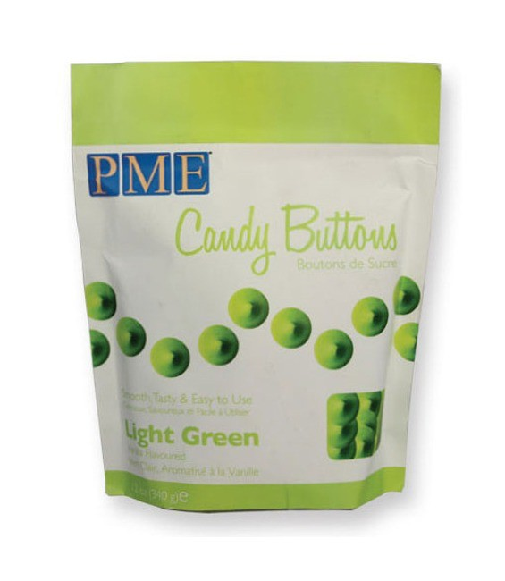 Candy Buttons Light Green, 340g