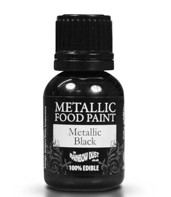 RD Metallic Food Paint Metallic Black