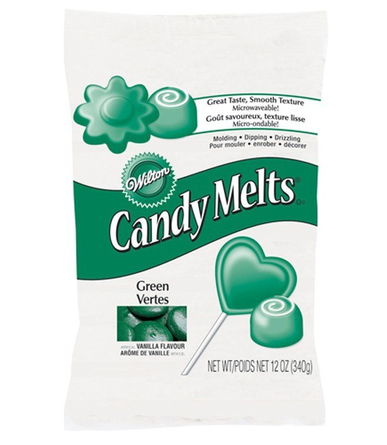 Candy Melts®, 340g Dark Green, 340g - MHD 30.09.2018