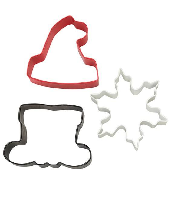 Ausstecher Set Santa, 3 -Stück