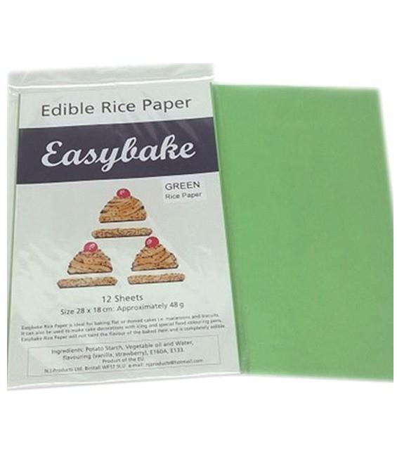 Reispapier Grün