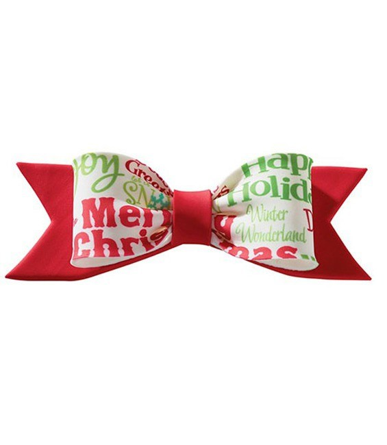 Gumpaste Large Bow Christmas Red