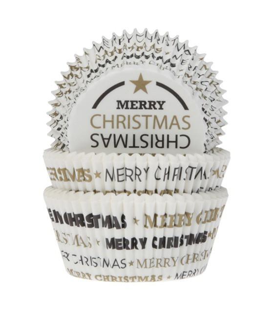 Muffinfömchen Merry Christmas, 50 Stück