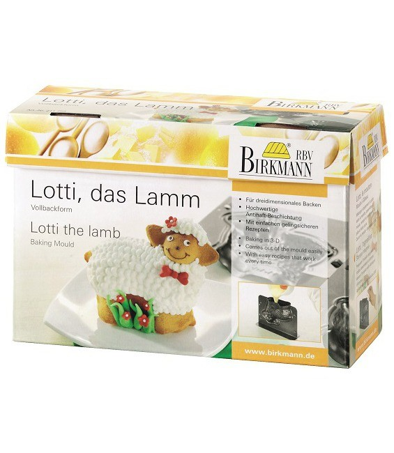 Backform 3-D Lotti das Lamm