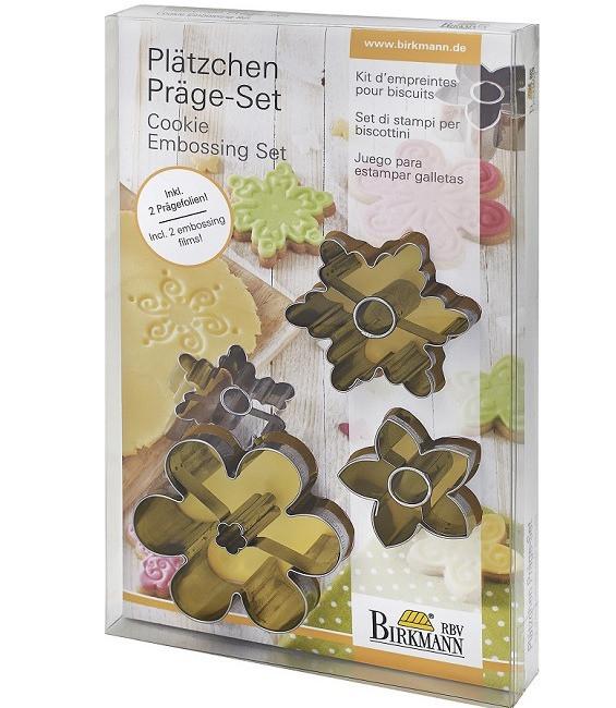 Plätzchen Präge Set für Blüten, 5-tlg.