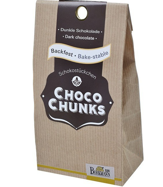 Backfeste Choco Chunks dunkle Schokolade, 200g