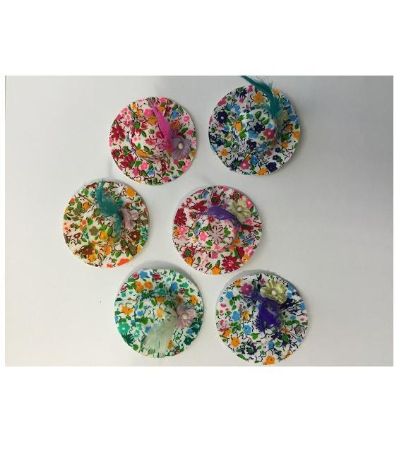 Sommerhütchen Mix, 6 Stück