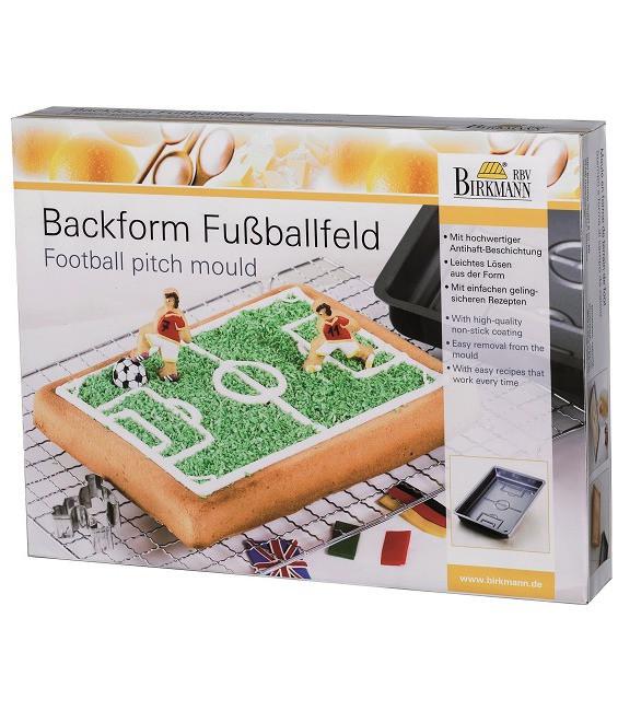 Motivbackform Fussballfeld