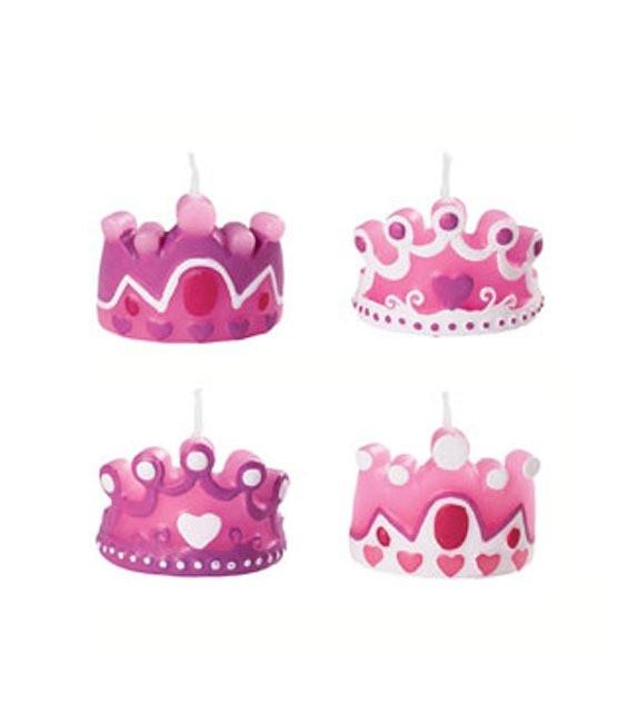 Kerzen Prinzessin Kronen, 4 Stück