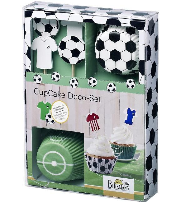 Cupcake Kit Fussball, 24 Stück