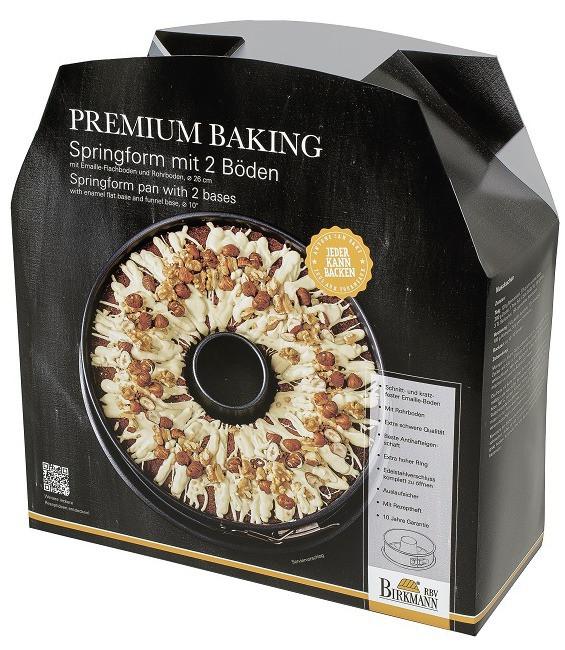 Premium Baking Springform mit 2 Böden, 26 cm