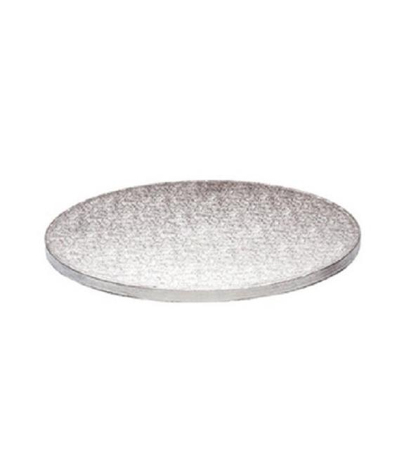 Stabile Runde Tortenunterlage Silber, 30cm