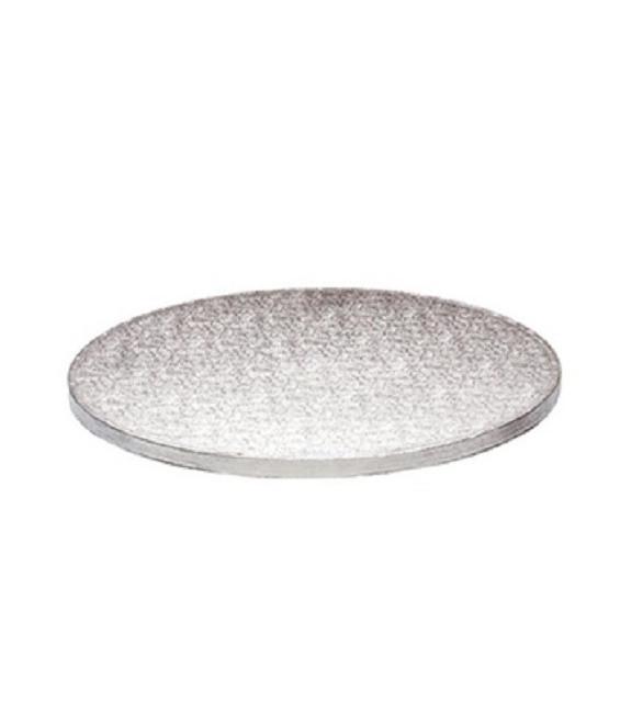 Stabile Runde Tortenunterlage Silber, 34cm