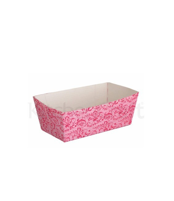Mini-Kastenform, 4 Stück, 12 cm, rosa