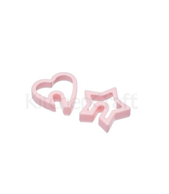 Keksausstecher Tassenkekse 2er Set Herz und Stern