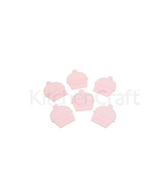 Cupcake Trenner Set, 6 Stück, rosa
