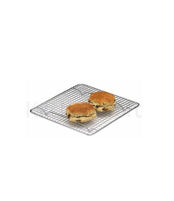 Kuchen Abkühlgitter, verchromt, 25,5 x 25,5 cm