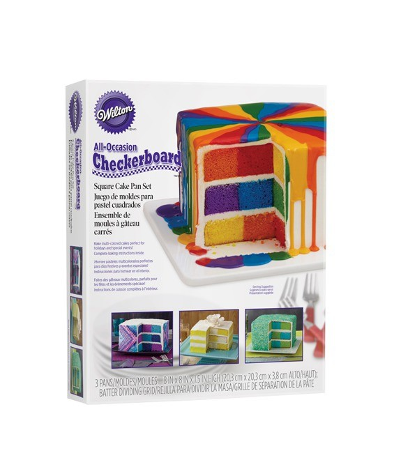Checkerboard (Schachbrettform) Quadratisch 20,3 x 20,3 cm
