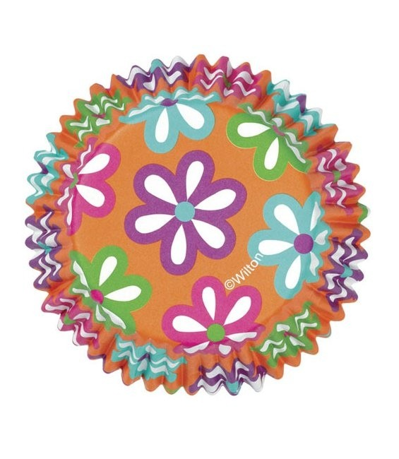 Muffinförmchen Bunte Blumen, 36 Stück