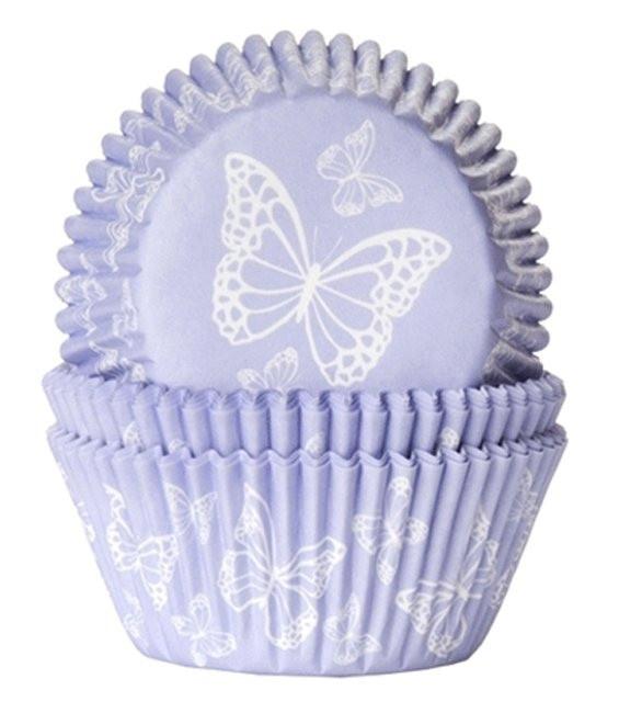 Muffinförmchen Schmetterling Lila, 50 Stück