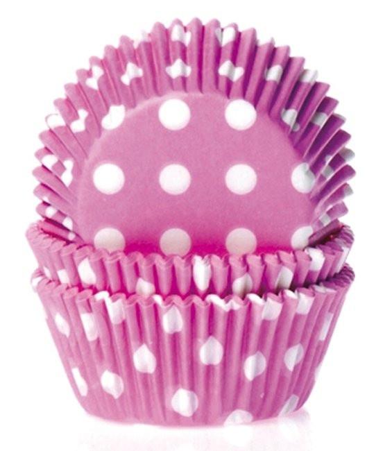 Muffinförmchen Pink gepunktet, 50 Stück