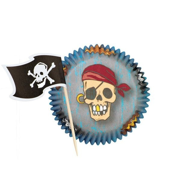 Muffinförmchen Piraten Set, 24 Stück