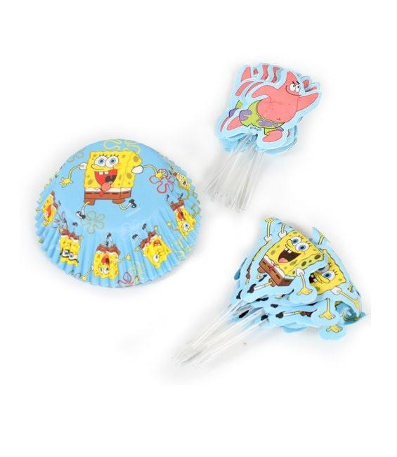 Muffinförmchen SpongeBob Set, 24 Stück