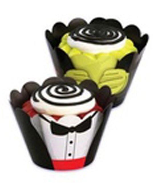 Muffinmanschette Monster, 48 Stück