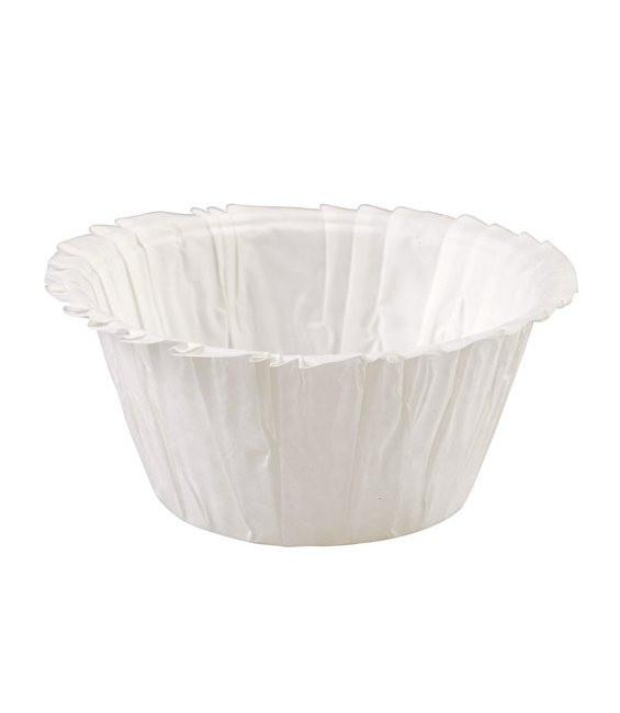 Muffinförmchen Double Ruffle Weiss, 24 Stück