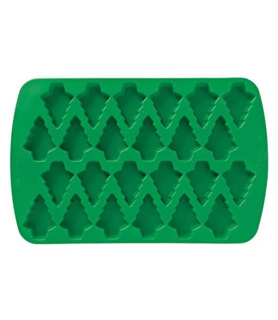 Silikonbackform kleine Tannenbäumchen, 24 Stück