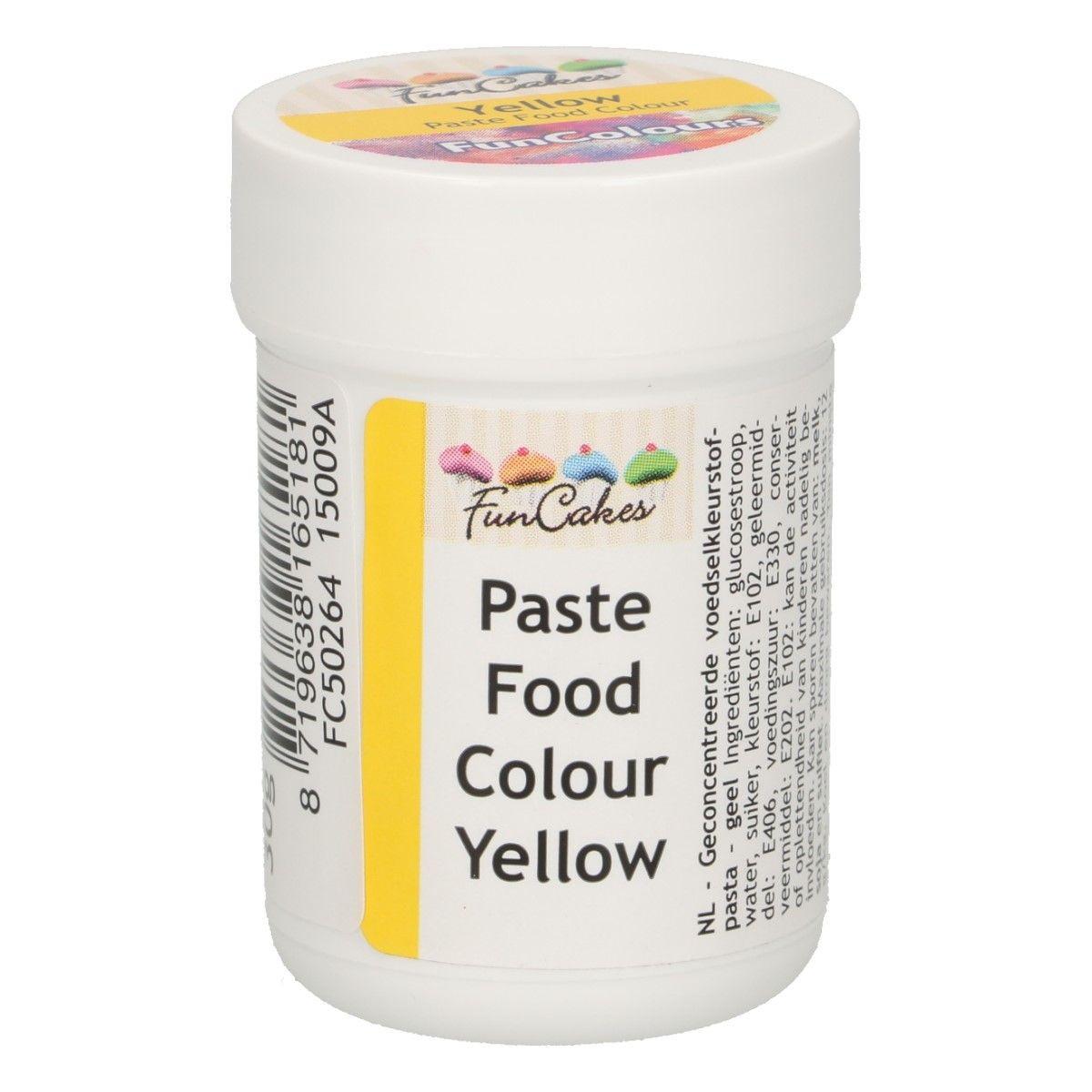 Funcakes FunColours Paste Food Colour - Yellow/Gelb 30 g
